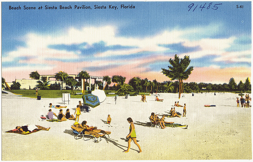 Post card of Siesta Key Beach Pavilion