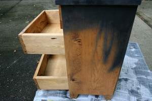 Chest of Drawers being painted
